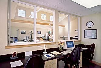 Randel Dental with large windows and dorms that let in well controled northern light - Pelletier + Schaar