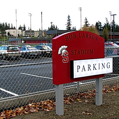 Stanwood High School resurfaced and restriped student parking - Pelletier + Schaar