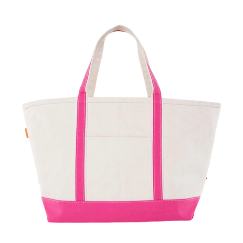 Hot Pink Boater Tote