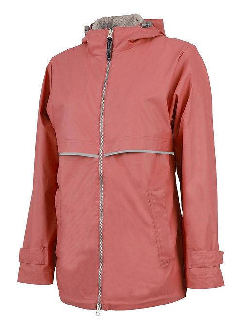Coral Rain Coat