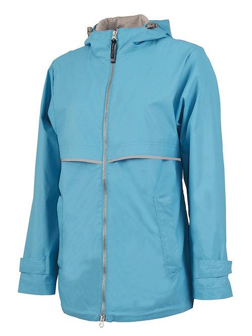 Turquoise Rain Coat