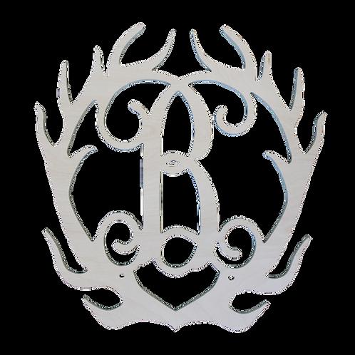 Antler Wood Monogram