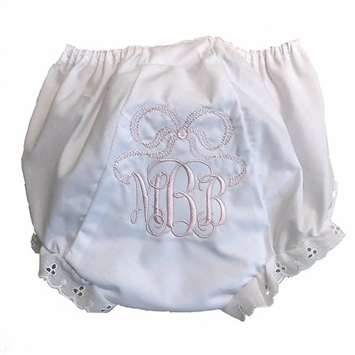 Bow Monogrammed Bloomers