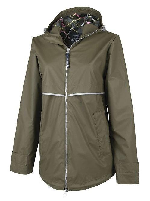 Army Green Rain Coat
