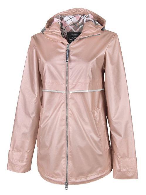 Rose Gold Rain Coat