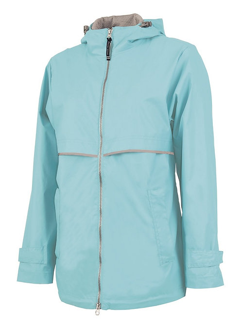 Light Aqua Rain Coat