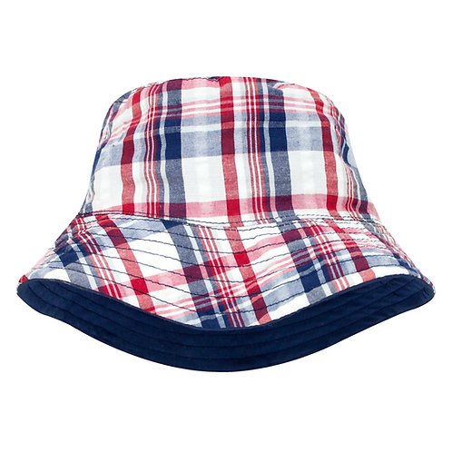 Red and Navy Sun Hat
