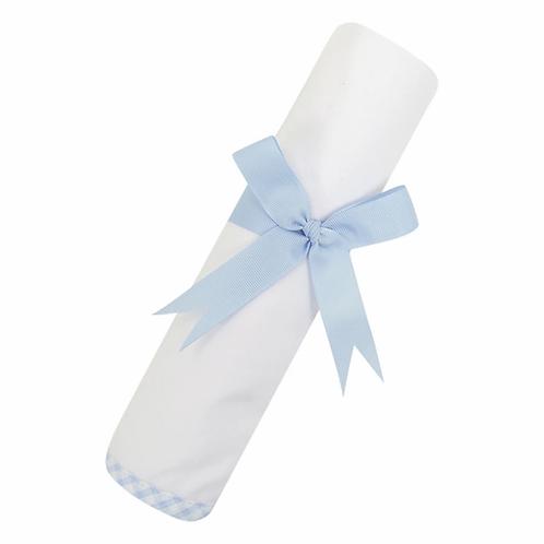 Blue Check Swaddle Blanket