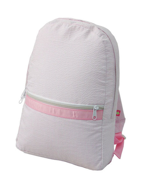 Pink Seersucker Book Bag