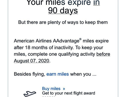 We care about you. But your miles are expiring soon.