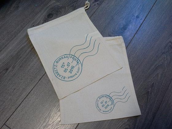 Petits sacs coton - air mail Biarritz X2