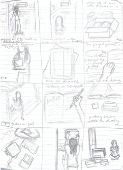 Sketches of scene ideas for 'matthew' video