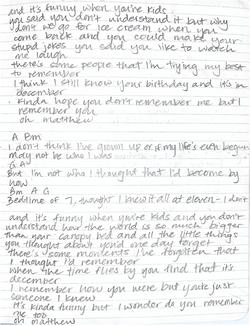 Lyrics from Songbook (2/2)