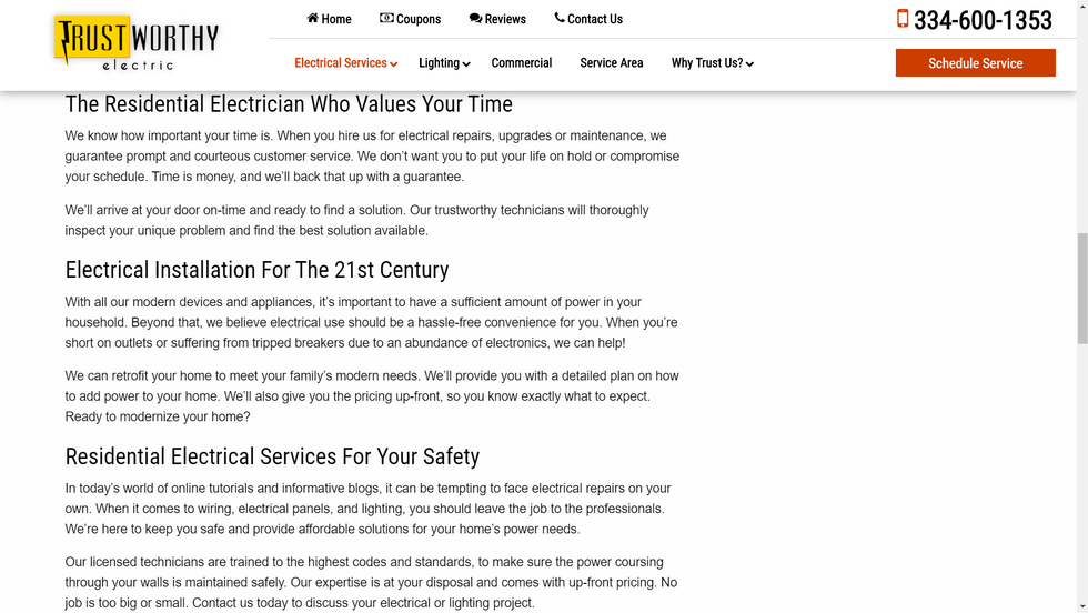 Electric Company Website Copy
