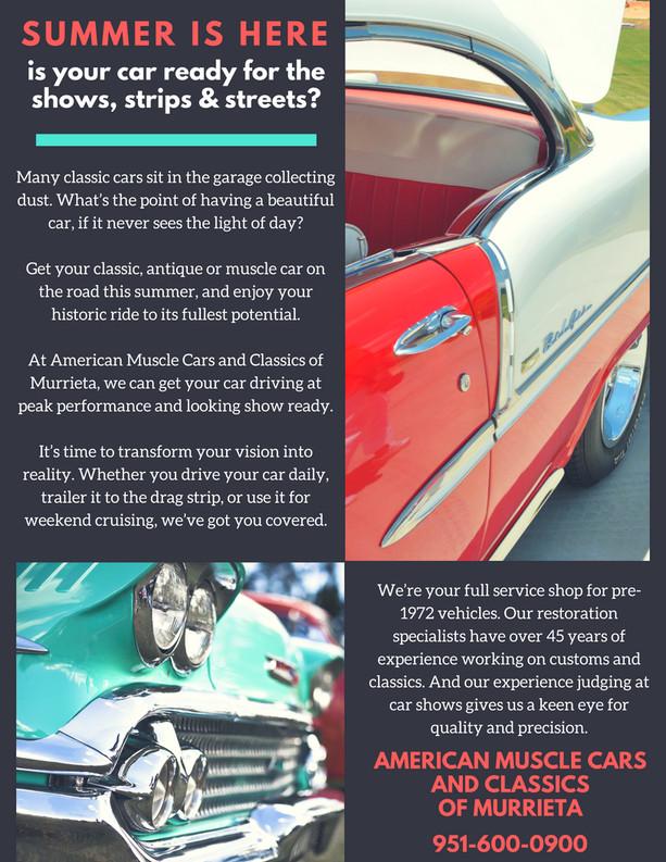 Custom Car Services Print Ad