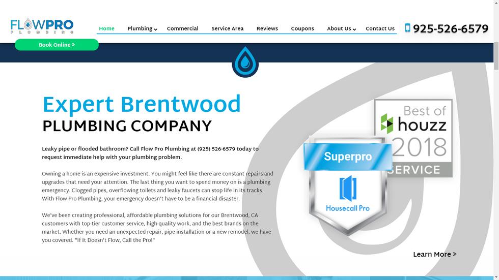 Plumbing Company Website Content