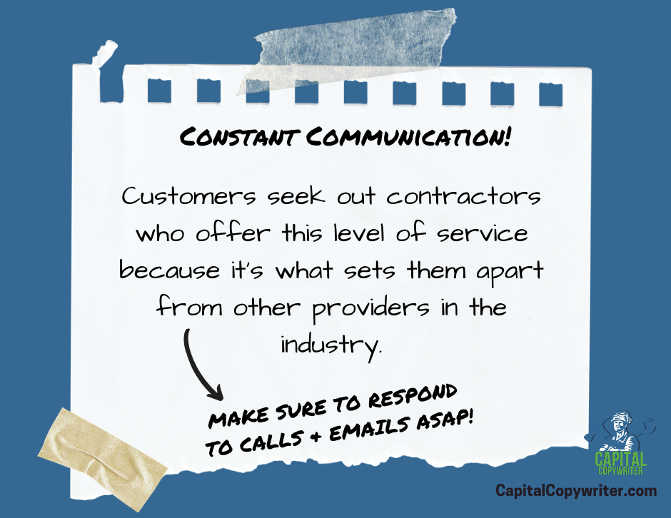 The importance of constant communication in the home services industry