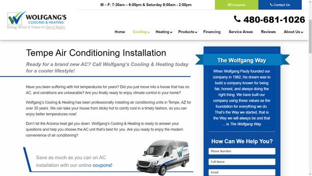 HVAC Website Content