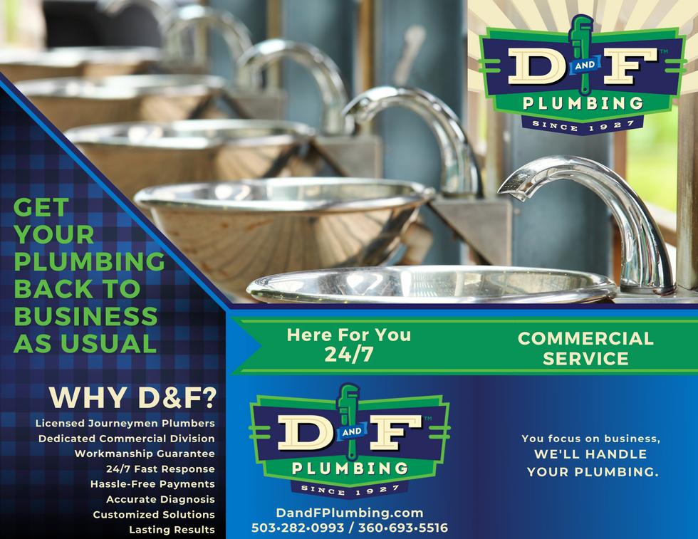 Commercial Plumbing Service Brochure