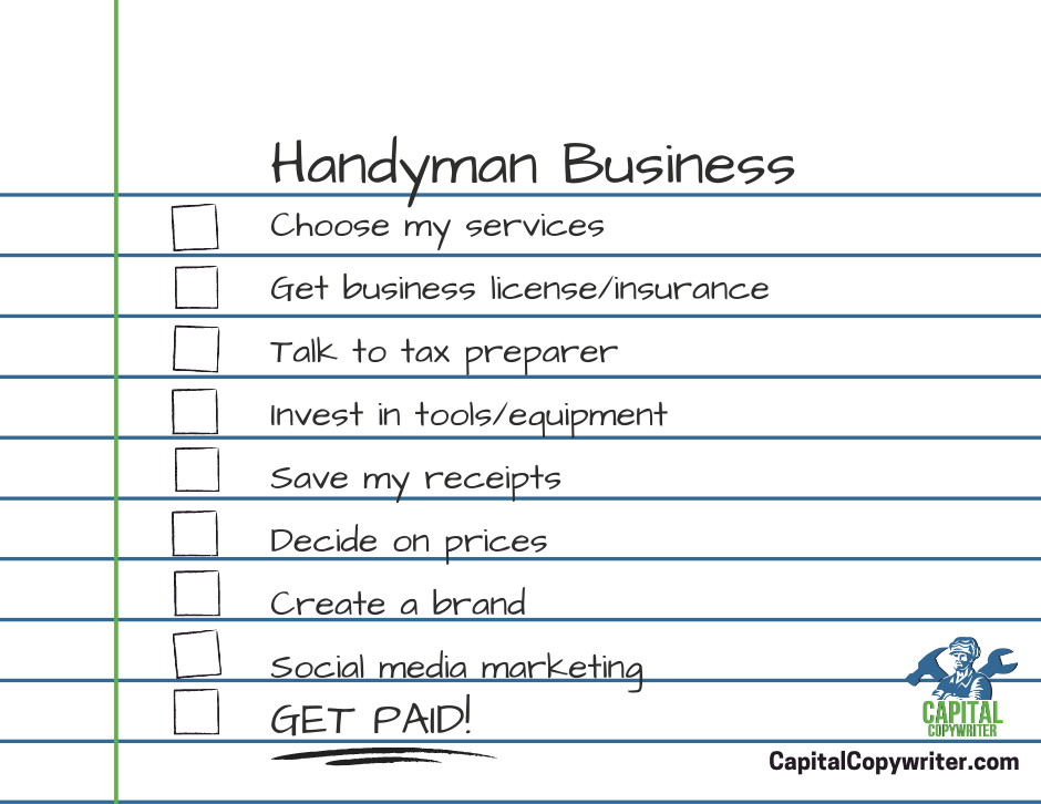Checklist How to start a handyman business