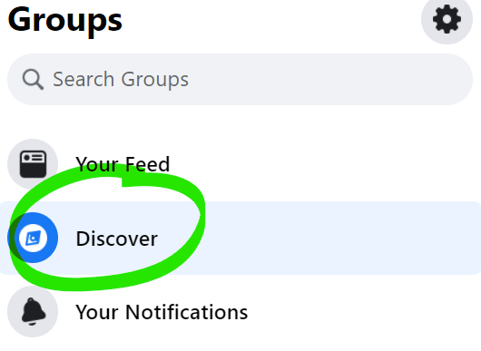 Discover new Facebook Groups