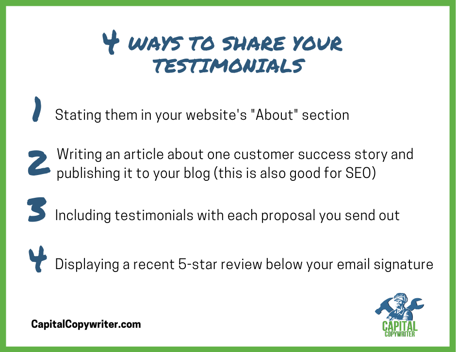 4 creative ways to share your testimonials or reviews