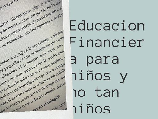 ¿Educación Financiera para los Niños?