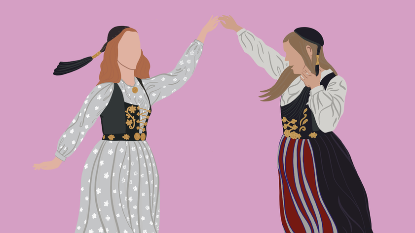 Sisters - Icelandic National Costume