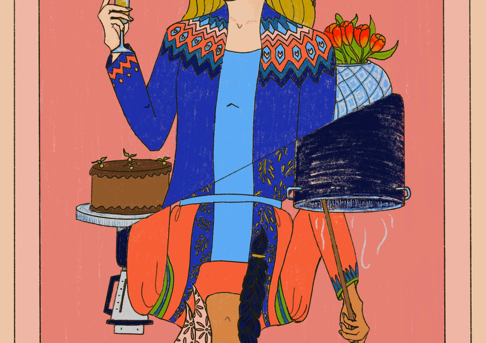 Illustration for Flóra útgáfa