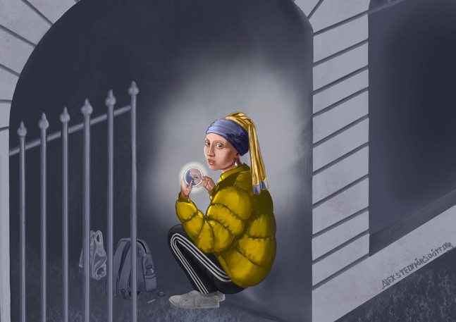 Illustration for Flóra about homelessnes