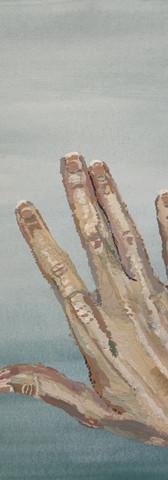 Hand that feeds - gouache