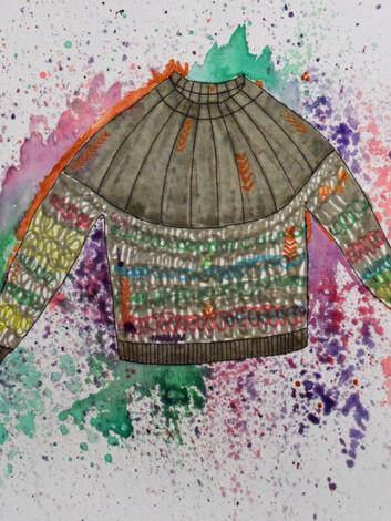 Marled Yoked Sweater