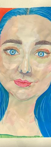 Krista - Gouache sketchbook Study