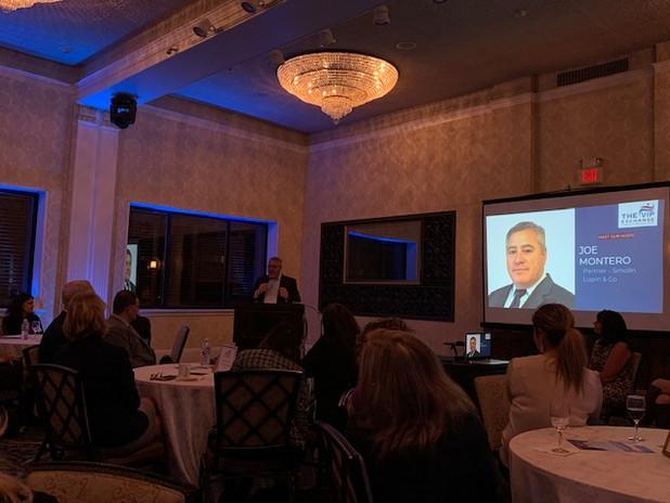 Host Joe Montero - at the VIP Exchange Accelerator Launch Event