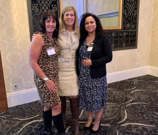 Leaders Tara Gilvar, Linda Wellbrock and Linsey Short - at the VIP Exchange Accelerator Launch Event