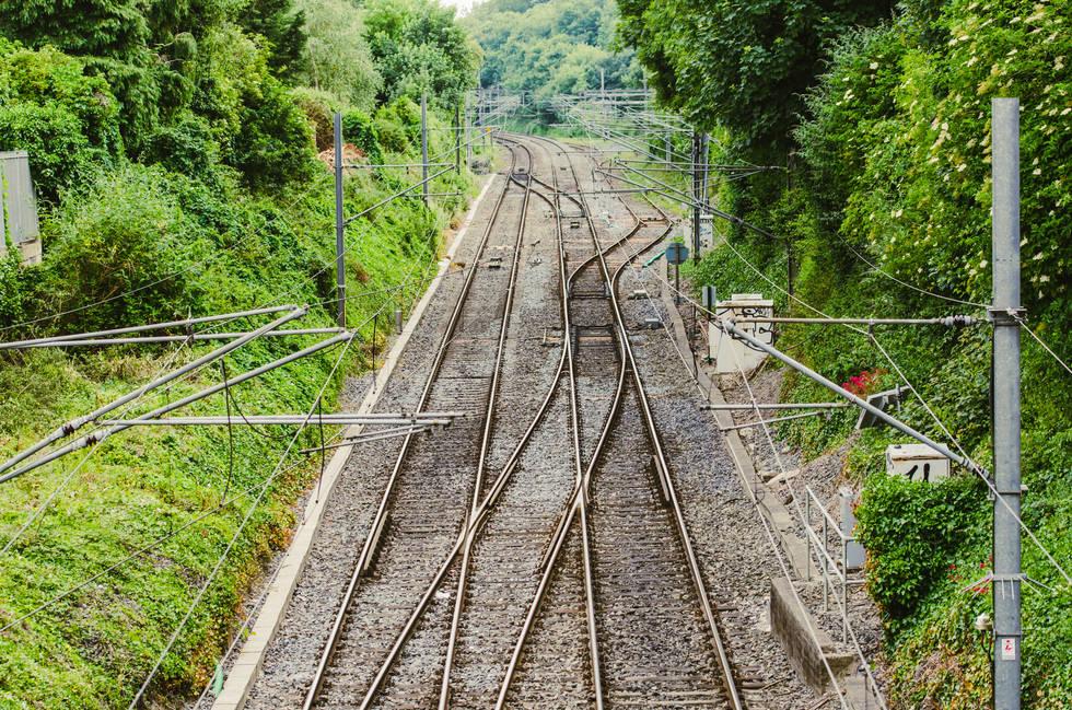 Railroad In Malahide Ireland