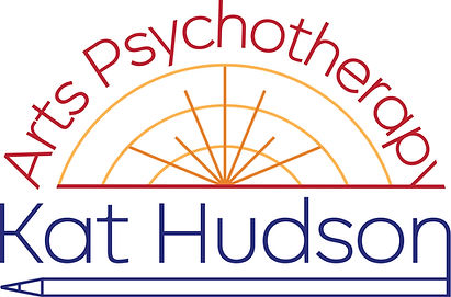 The logo and branding for Kat Hudson Arts Psychotherapy