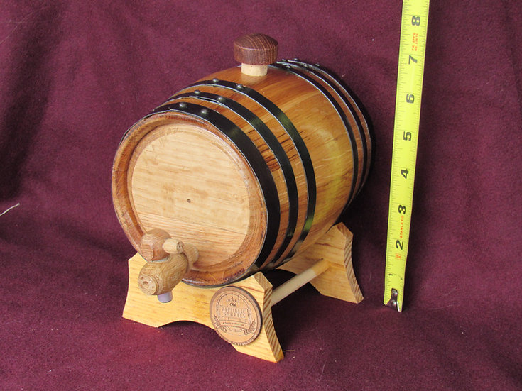1 Liter Barrel - Engraving Included (email me if text wont fit)