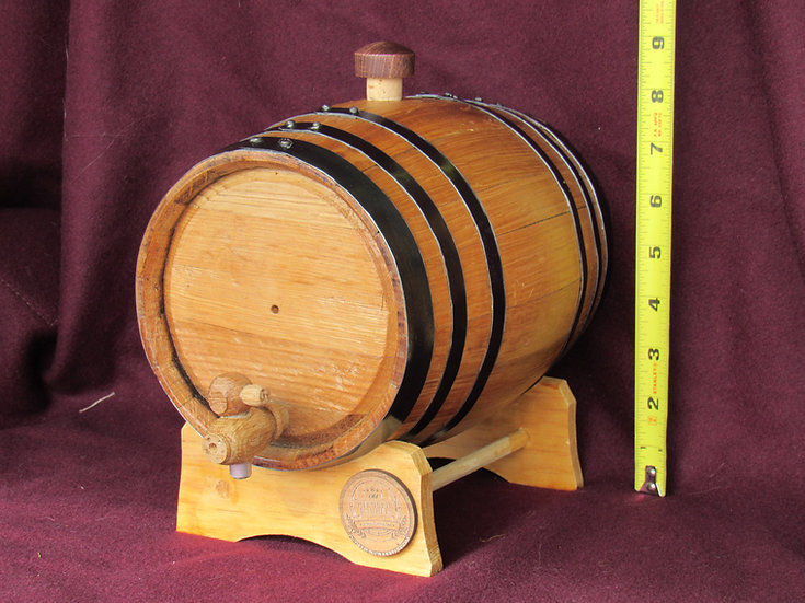 3 Liter Barrel - Engraving Included (email me if text wont fit)