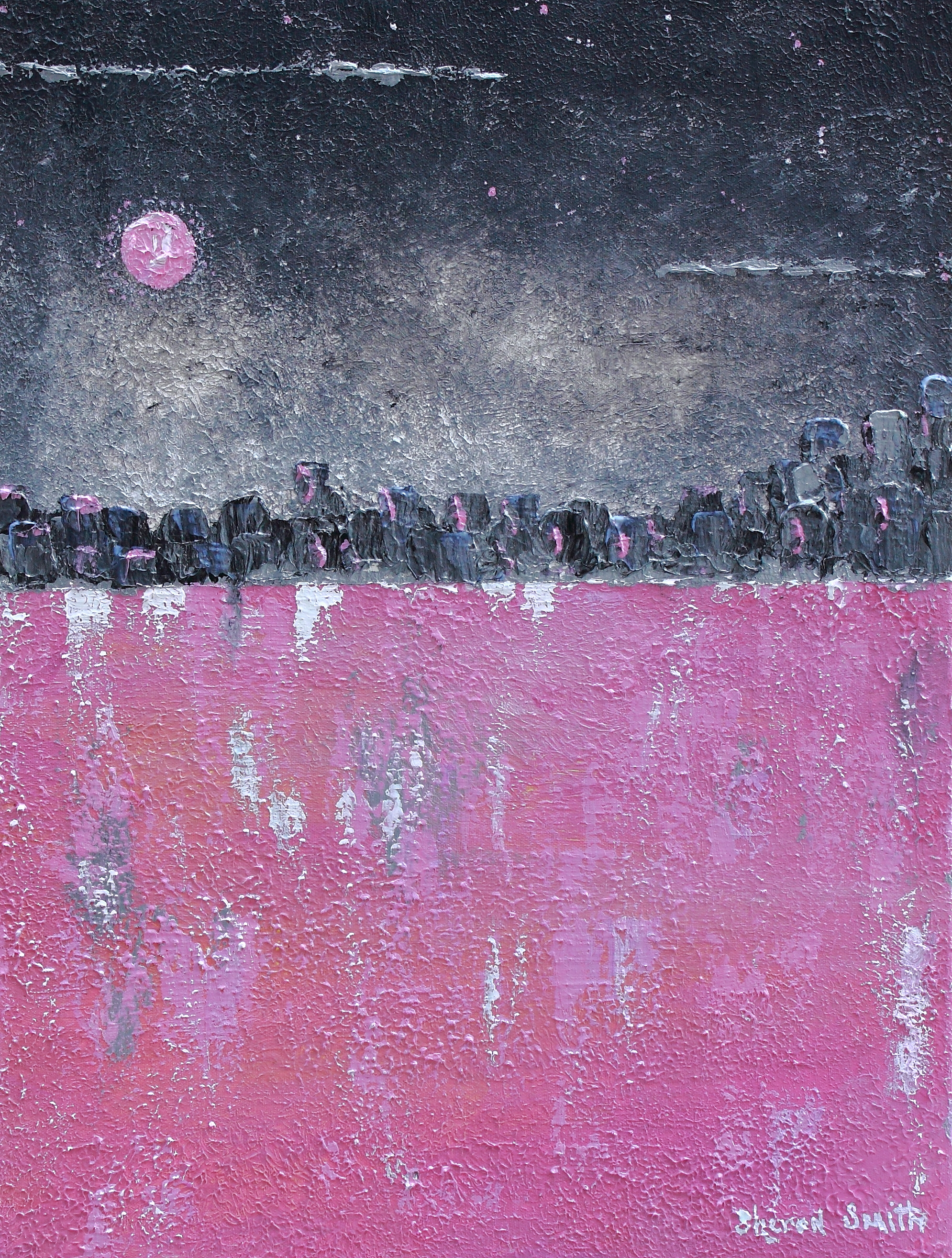 Pink Moon  18x24 Sold