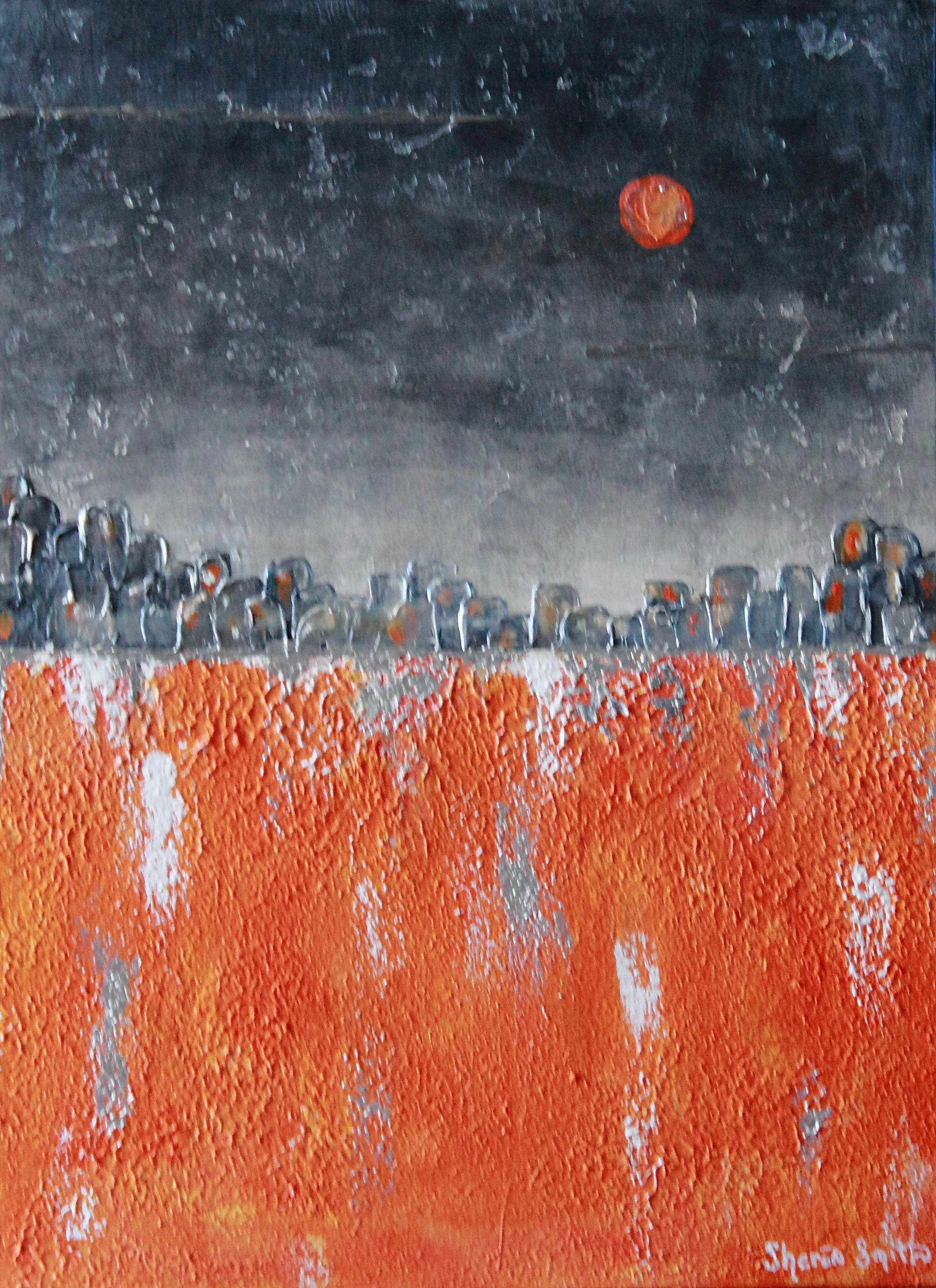 Orange Moon SOLD