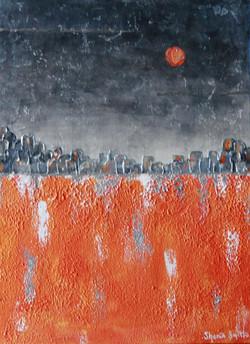 Orange Moon SOLD