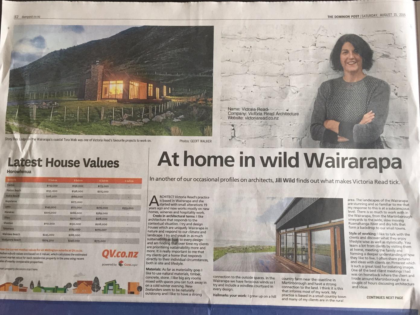 Wairarapa Living Victoria Read