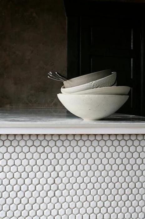Texture can be added through something as simple as ceramics on display