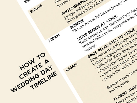 11 Essential Tips for Creating the Perfect Wedding Day Timeline