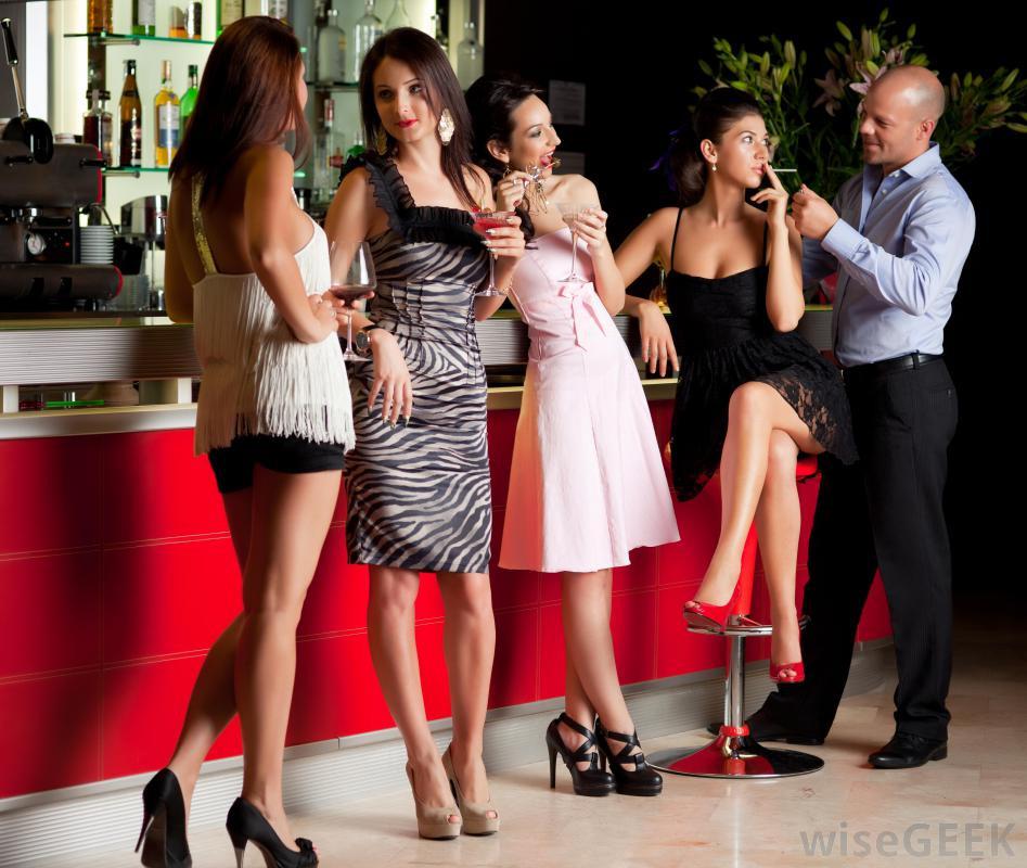 Cocktail Attire Wedding Bar