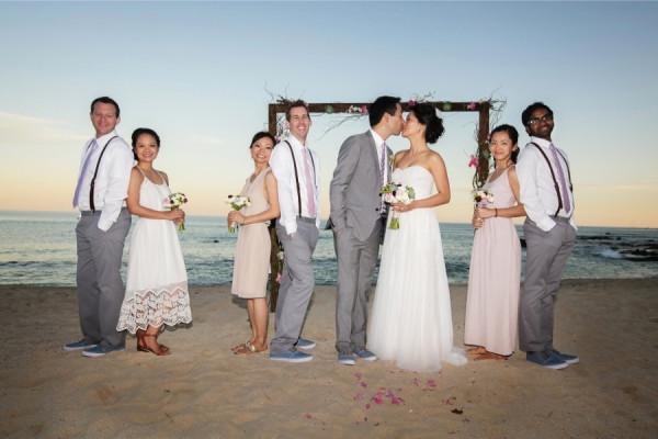 Beach Formal Wedding Sand Arch