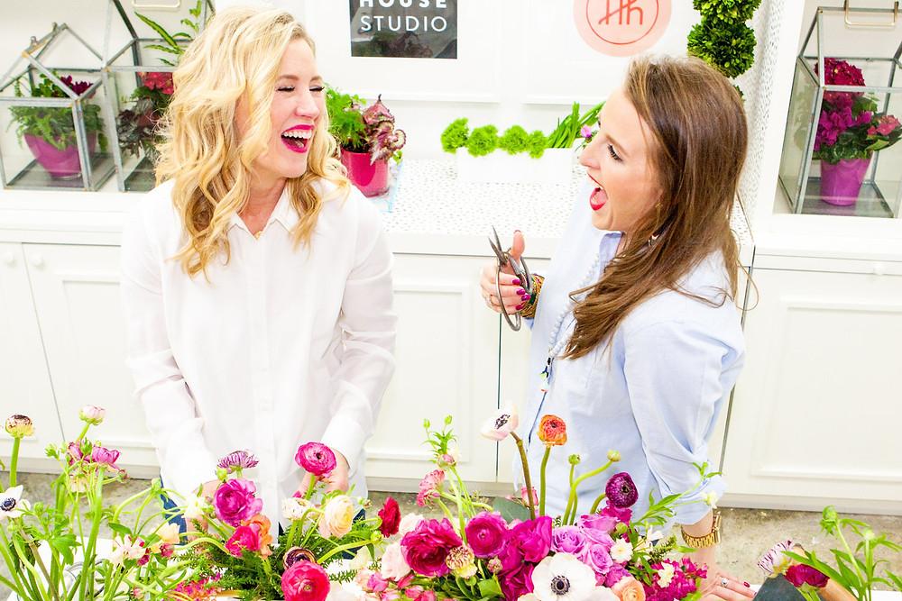 Haute House Studio floral arrangement class