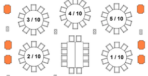 Drawing of King's Table layout