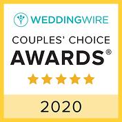 WeddingWire Couples' Choice Awards Badge 2020